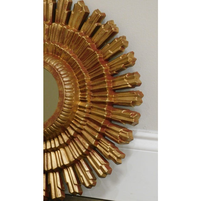 Small Gold Gilt Sunburst Mirror For Sale - Image 9 of 13