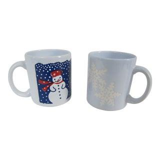 Vintage Waechtersbach Christmas Mugs- 2 Pieces For Sale