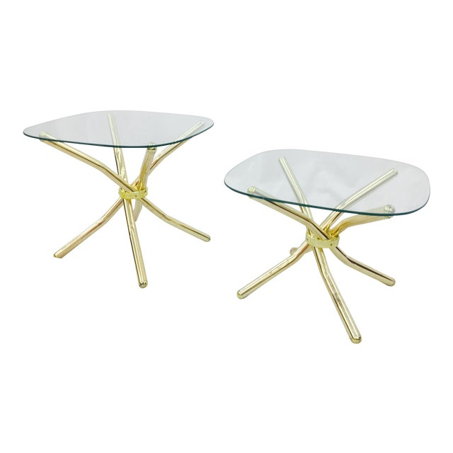 Gold Knot Side Tables - A Pair - Image 1 of 8