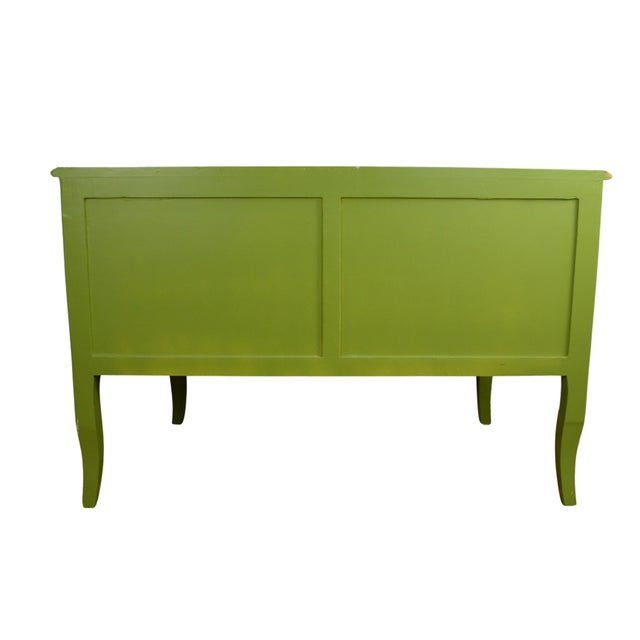 1980s Louis XV Style Green Commode For Sale - Image 4 of 5