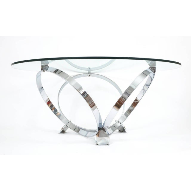 Mid-Century Modern Elegant Chrome Ring Coffee Table by Knut Hesterberg, circa 1970 For Sale - Image 3 of 6