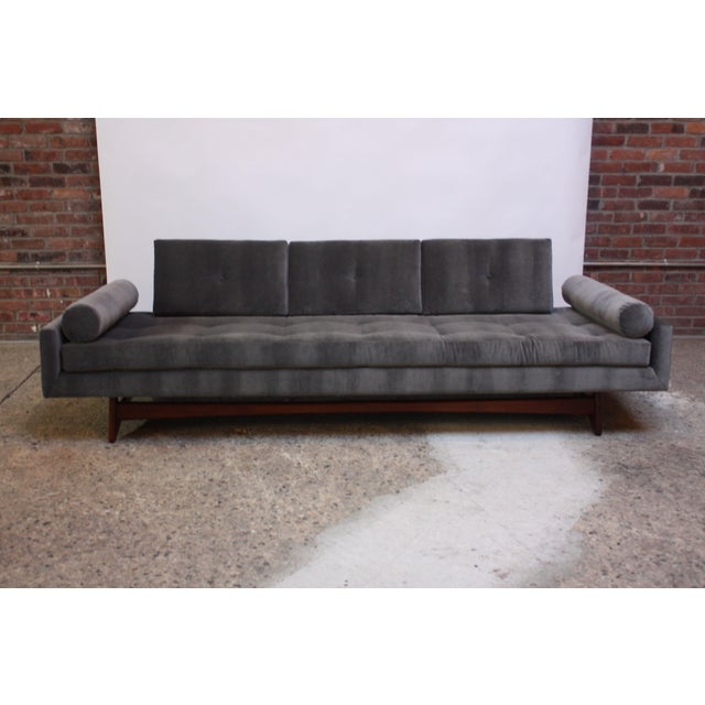 Mid-Century Modern Adrian Pearsall for Craft Associates 'Gondola' Sofa in Walnut and Velvet For Sale - Image 3 of 13