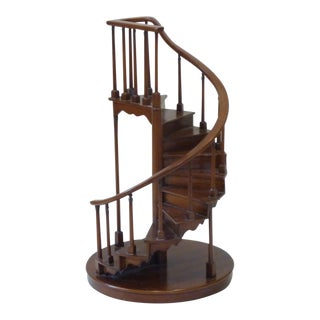 20th Century Traditional Architect's Spiral Staircase Model For Sale