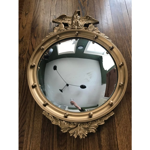 Gold Vintage Convex Federal Mirror For Sale - Image 8 of 8