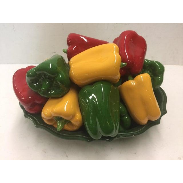 1980s Italian Bell Pepper Ceramic Sculpture For Sale - Image 5 of 5