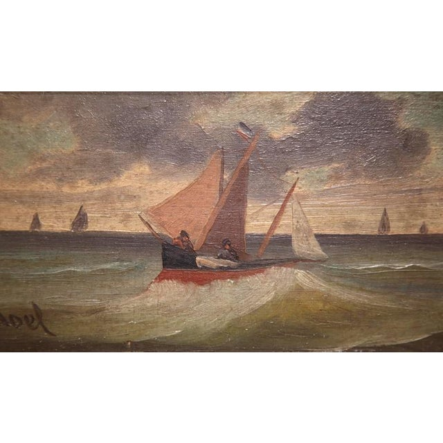 19th Century French Oil on Board Paintings - A Pair - Image 6 of 9