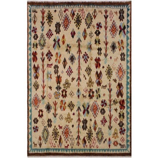 Moroccan Benito Wool Rug - 8′7″ × 11′10″ For Sale