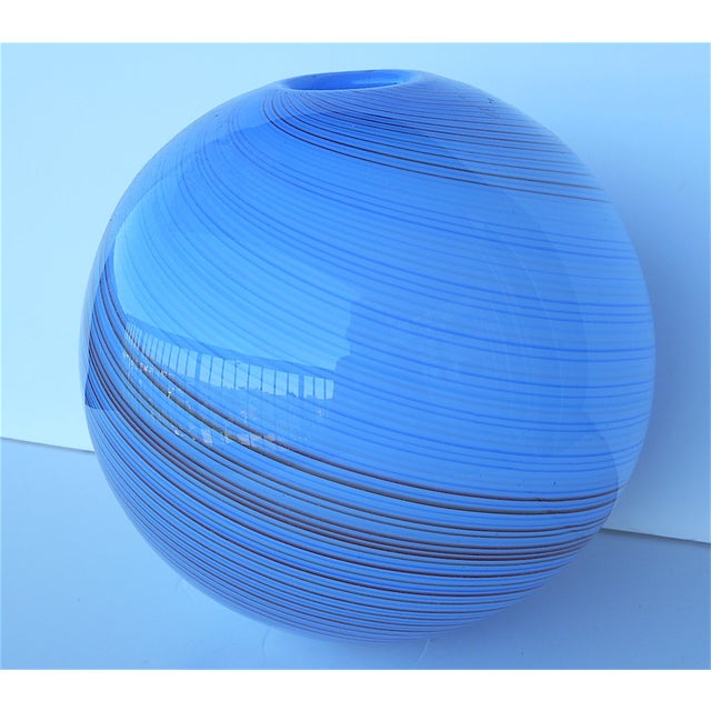 Vintage Hand Blown Globe Vase - Image 2 of 9