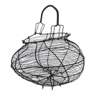 Late 19th Century Antique French Wire Egg Basket