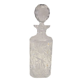 American Brilliant Cut Crystal Decanter For Sale