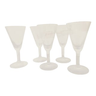 Vintage Stemmed Cordials Barware — Set of 5 For Sale