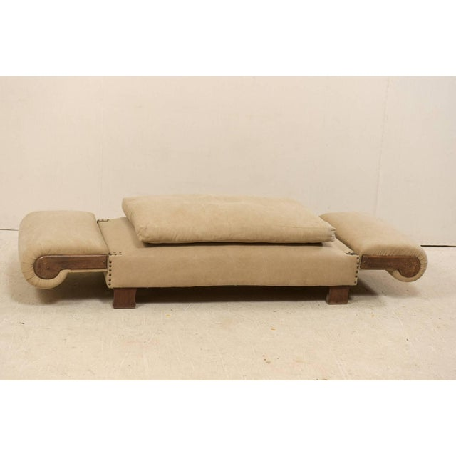 Brown French Lit De Jour 'Daybed' Circa 1920s-1930s With Nice Rounded Arms For Sale - Image 8 of 11