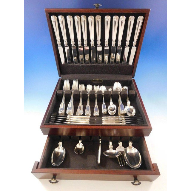ec6aeede9365b Shell & Thread by Tiffany & Co Sterling Silver Flatware Service Set 78 Pc  Dinner
