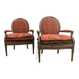 Modern Henredon Upholstered Chairs- A Pair For Sale