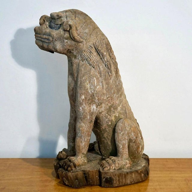 Wood Late 18th Century Foo Dog For Sale - Image 7 of 11