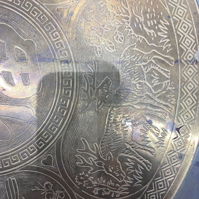Vintage Brass Tray With Animal Scene - Image 2 of 6