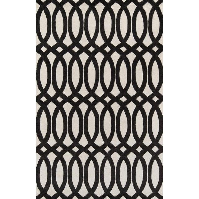 "Contemporary Momeni Delhi Hand Tufted Black Wool Runner - 2'3"" X 8' For Sale In Atlanta - Image 6 of 7"