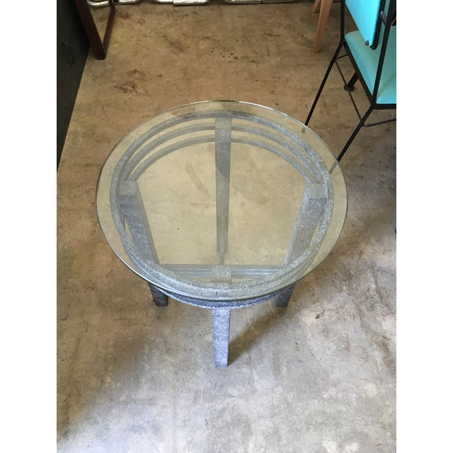 1980s Post Modern Sculptural Side Table For Sale - Image 10 of 11