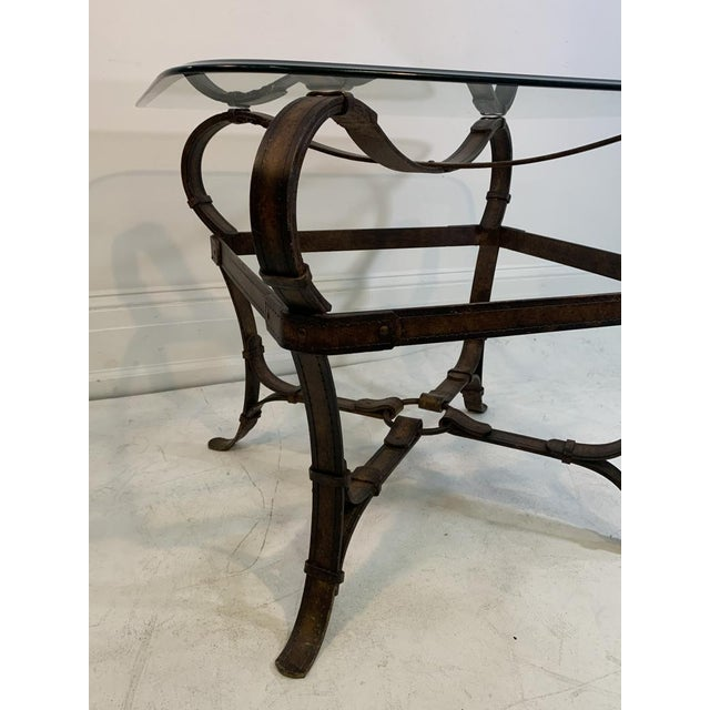 Hermes Equestrian Iron Strap Side Table For Sale - Image 9 of 13