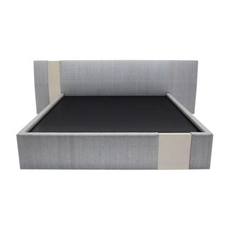 Nocturnal Bed Upholstered Frame With Two Lacquer Cuts For Sale