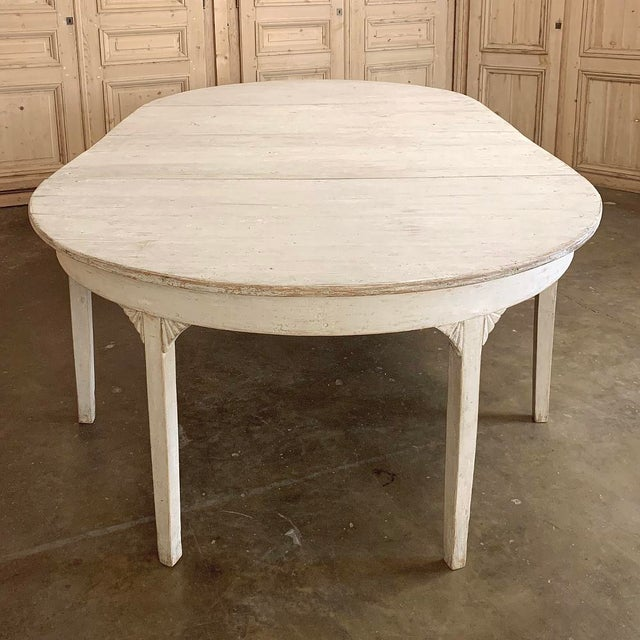 Wood Banquet Table, Painted, Early 19th Century Swedish Gustavian Period For Sale - Image 7 of 13