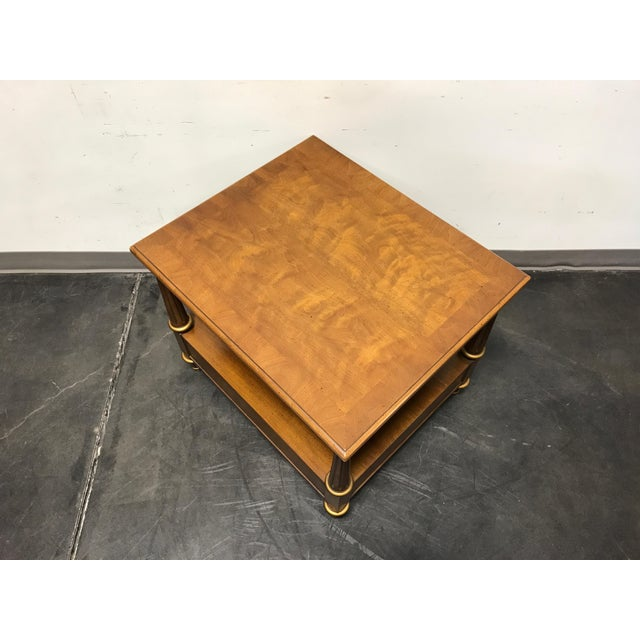 Brown Henredon Mid Century Era Neoclassical Style Side End Table For Sale - Image 8 of 10