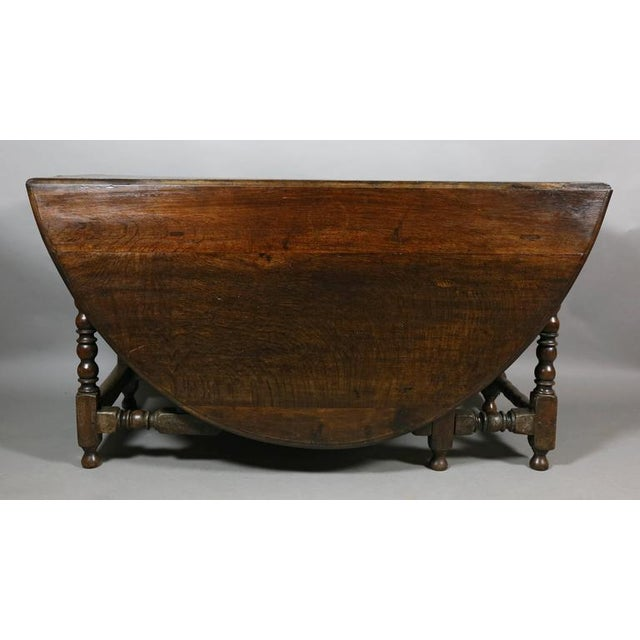 Large Jacobean Oak Gateleg Table For Sale - Image 4 of 11
