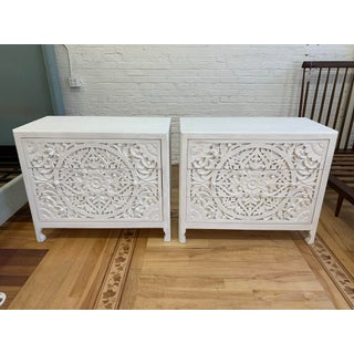Anthropologie Lombark Three Drawer White Wash Dressers- a Pair Preview