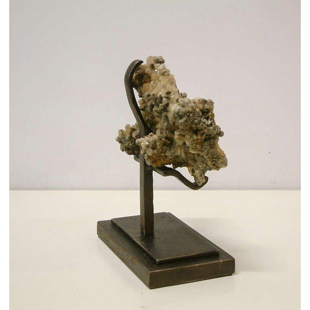 1990s 1990s Rock Crystal With Metallic Deposits Mounted on a Custom Maurice Beane Studios Stand For Sale - Image 5 of 9