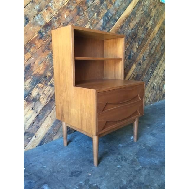 Mid-Century Sculpted Drawer Nightstand - Image 4 of 6