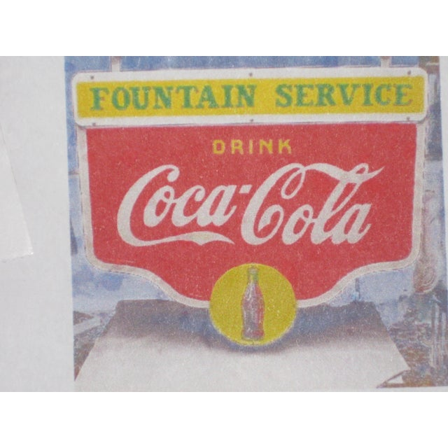 Ceramic Antique Coca-Cola Porcelain Sign For Sale - Image 7 of 13