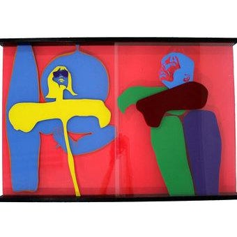 Mid-Century Modern Mid Century Modern Lucite Acrylic Art Sculpture Painting by Owen Shapiro For Sale - Image 3 of 3