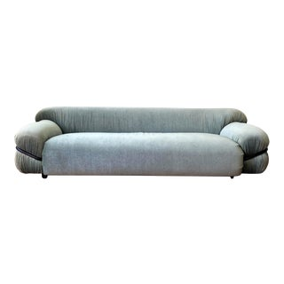 Mid-Century Italian Gianfranco Frattini for Cassina Style Sofa For Sale