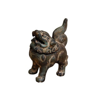 Bronze Foo Dog Incense Burner For Sale