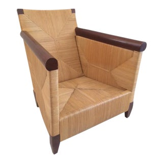 Vintage Donghia Rattan Club Chair