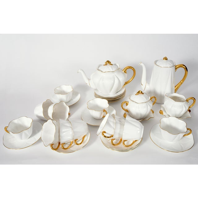 1920s Vintage English Porcelain Tea / Coffee Service Service for 12 People - 36 Pc. Set For Sale - Image 5 of 13