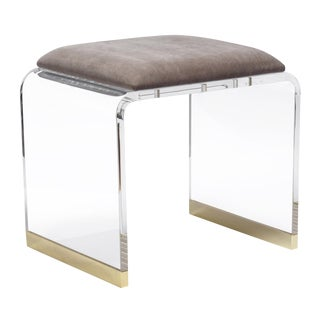Brynn Stool - Gray Velvet For Sale