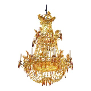 French Empire Style Beaded Chandelier