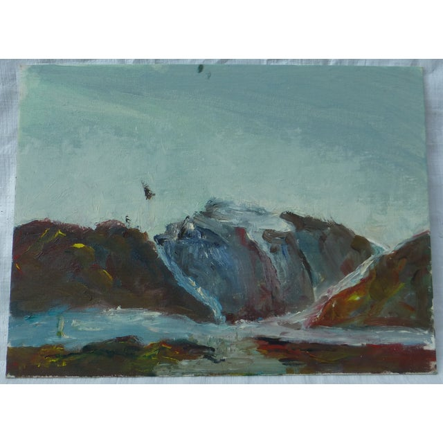 MCM Painting of Rocky Ocean H.L. Musgrave - Image 2 of 6