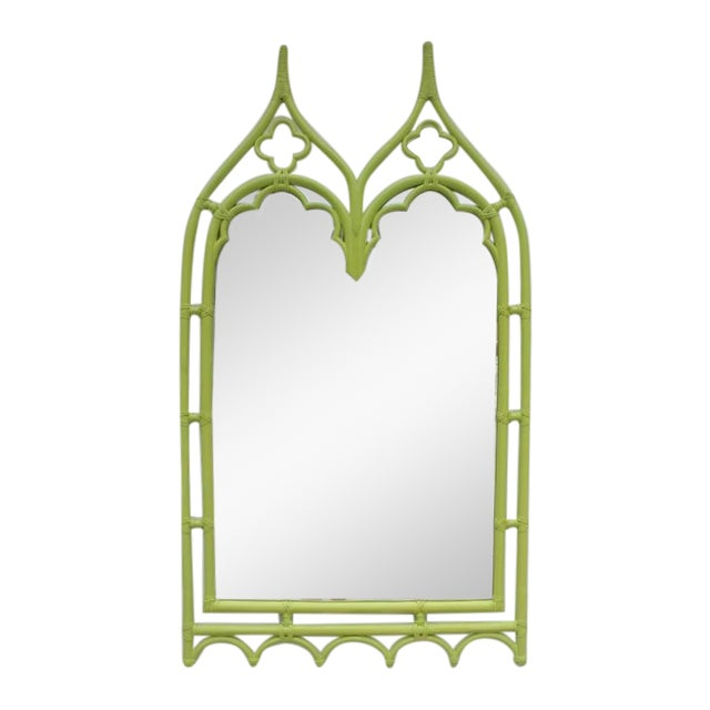 McGuire Bamboo Double Arch Wall Mirror - Image 1 of 9