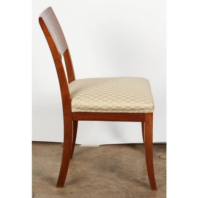 Mahogany Pair of 19th Century Danish Inlaid Mahogany Chairs For Sale - Image 7 of 8