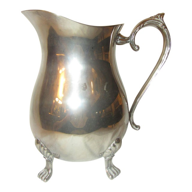 Leonard Silverplate Water Pitcher For Sale