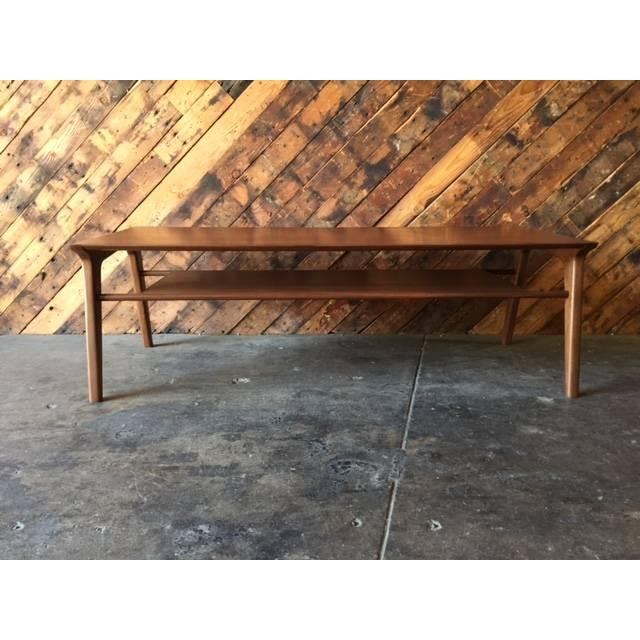 Drexel-Style Walnut Coffee Table - Image 3 of 6