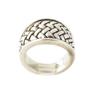 1990s Contemporary Kieselstein Cord Sterling Weave Ring For Sale