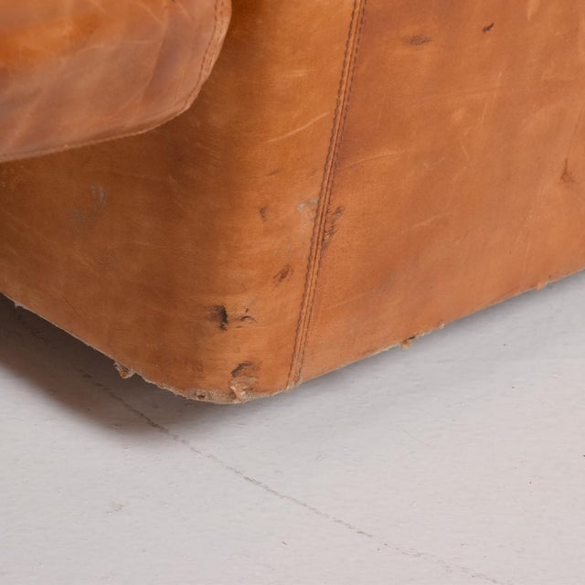 Mid Century Modern Italian Leather Sofa Bed For Sale In San Diego - Image 6 of 11
