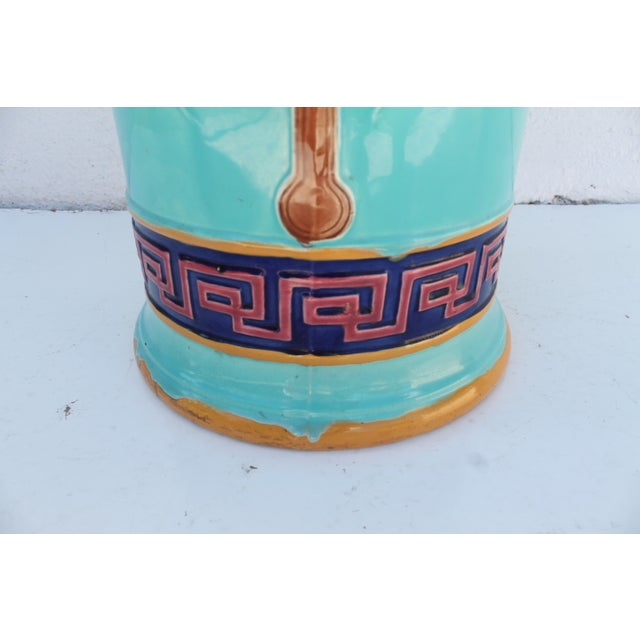 Vintage Hand Painted Ceramic Umbrella Stand - Image 6 of 8
