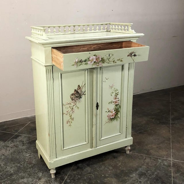 Antique Belle Epoque Painted Cabinet For Sale In Dallas - Image 6 of 13
