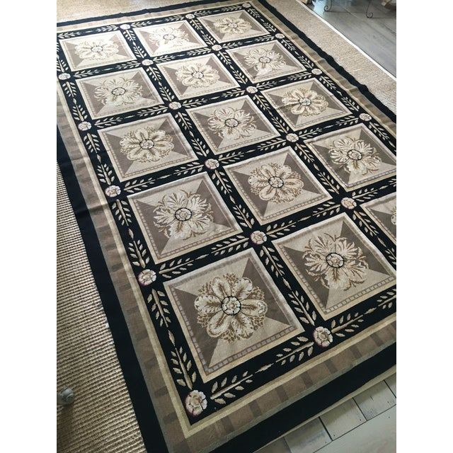 English Stark Aubusson Rug- 6′ × 9′3″ For Sale - Image 3 of 13