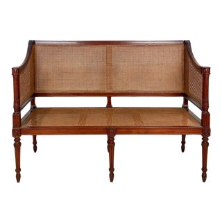 Late 18th Century Vintage Louis XVI Walnut Settee For Sale