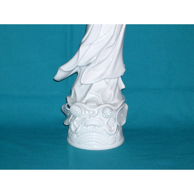 "Flawless XL Chinese Blanc-De-Chine Porcelain Figurine 16"" - Image 4 of 8"